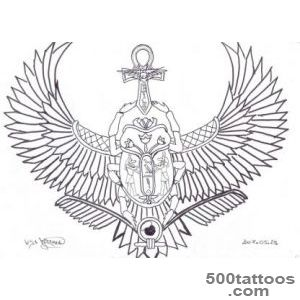 DeviantArt More Like My Winged Scarab Tattoo by Janet Asuka_2