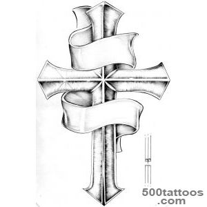 Cross with scroll tattoo  Tattoo Collection_42