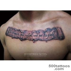 Memorial Scroll Tattoo On Right Back Shoulder   Tattoes Idea 2015 _41