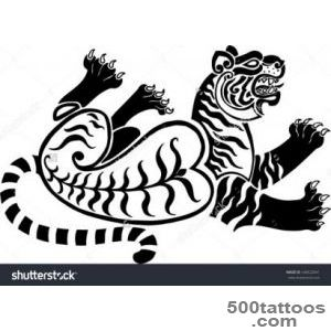 Running Twisted A Tiger In Scythian Tattoo#39S Style Stock Vector _28