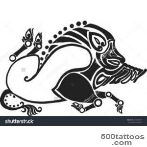 The Running Twisted Boar In Style Of Scythian Tattoos Stock Vector _4