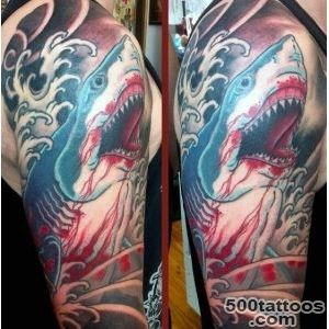 90 Shark Tattoo Designs For Men   Underwater Food Chain_15