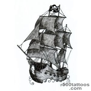 9+ Pirate Ship Tattoos Designs_50