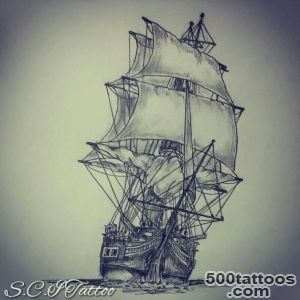 18+ Sailor Ship Tattoo Designs_47