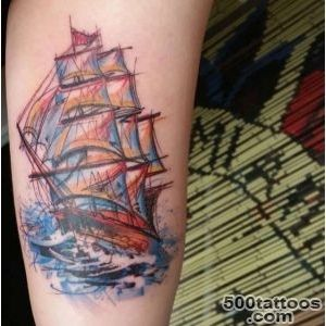 50 Amazing Ship Tattoos You Won#39t Believe Are Real   TattooBlend_28
