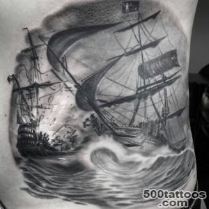 70 Ship Tattoo Ideas For Men   A Sea Of Sailor Designs_10