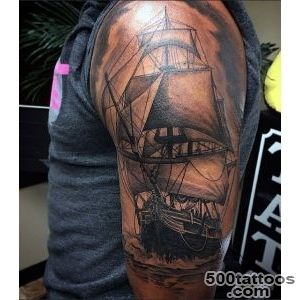 70 Ship Tattoo Ideas For Men   A Sea Of Sailor Designs_22