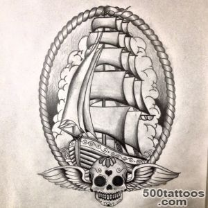Ship Tattoo Images amp Designs_19