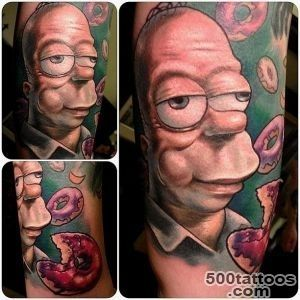 Awesome portrait of Homer from the Simpsons by Nick Morte #tattoos _17