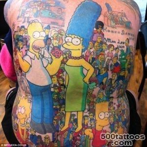 D#39oh! Grandfather gets 203 characters from The Simpsons inked on _8