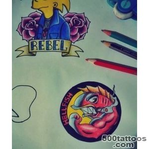 Simpson#39s Hellfish Tattoo and Dignity by JeloRamone on DeviantArt_46