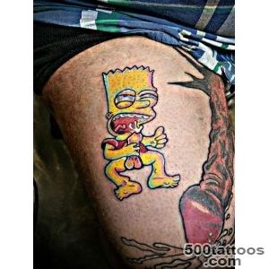 The most disturbing Bart Simpson tattoo ever   Tattoos by _4