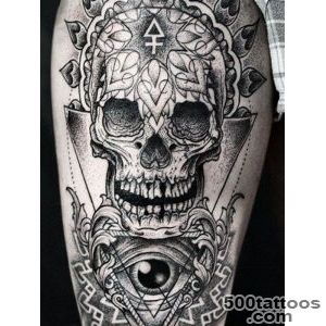 Skull tattoo design, idea, image