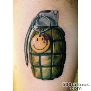 Battle field smiley face grenade tattoo_32