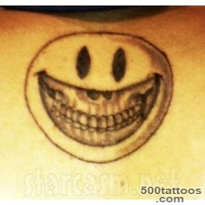 Chris Brown Unveils New Smiley Face Tattoo  Rapmusiccom_19