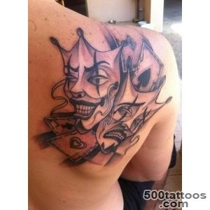 Happy and Sad Drama Face Tattoo  Cool Tattoos Online_48