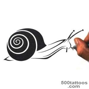 34+ Latest Snail Tattoo Designs_13