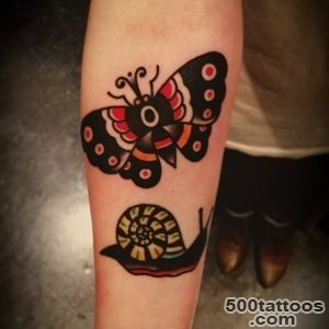 65+ Famous Snail Tattoos_15