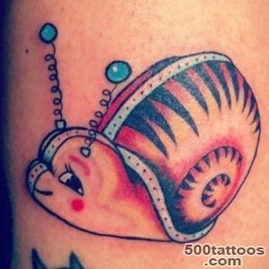 65+ Famous Snail Tattoos_17