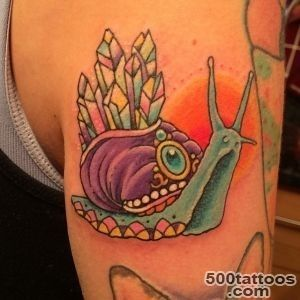 Pinky Darling @ Cosmic Tattoo • My quartz crystal snail done today _41