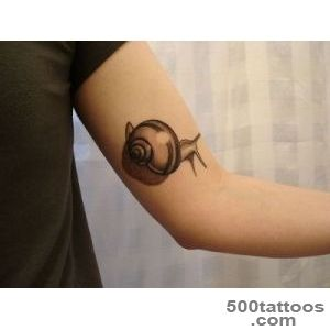 Snail Tattoo On Elbow  Tattoobitecom_9