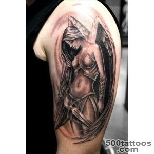 Girl#39s soldier angel tattoo   TattooMagz   Handpicked World#39s _48