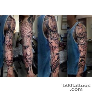 Pin Traditional Soldier Skull Tattoos On Half Sleeve _32