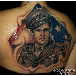 Tattoo US Flag Soldier  Tattoo_24
