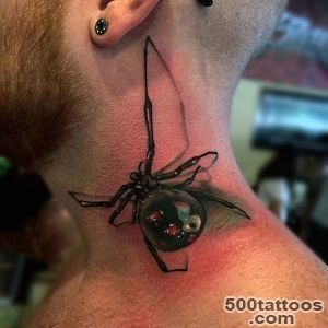 100 Spider Tattoos For Men   A Web Of Manly Designs_50