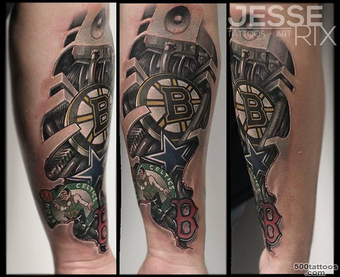Jesse Rix Tattoos  Tattoos  Half Sleeve  Sports Logo Tattoo_17