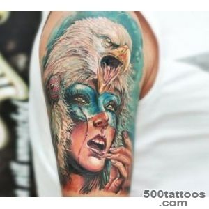 Eagle squaw tattoo by Led Coult  No 1162_9