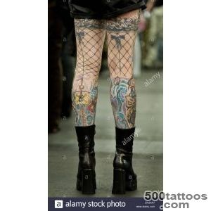 A Tattoo Fan Has Net Stockings Tattooed On His Legs At The 19th _1