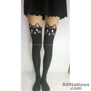 cat tail Cartoon Tattoo Stockings 10 pieceslot Women Anime Tights _40