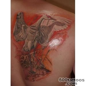 tattoo, bird, stork, back, design, picture_30