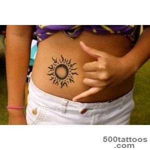 30 Amazing Sun Tattoo Designs for Boys and Girls_18