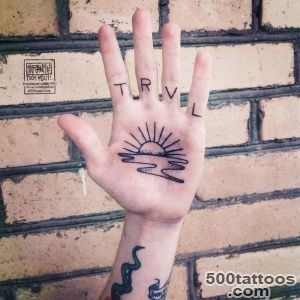 Sunset Tattoo On Palm_35