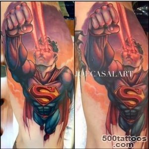 Claddagh Tattoos — Superman tattoo by Joe Casal Art 40+ Beautiful_36