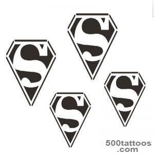 Waterproof temporary tattoo stickers wrist ball size Superman _30