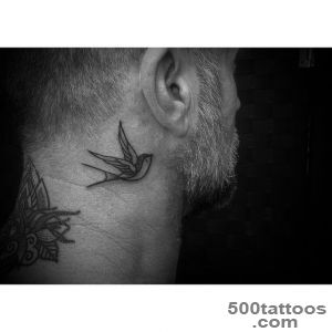 Swallow Tattoo Behind Ear  Best Tattoo Ideas Gallery_41