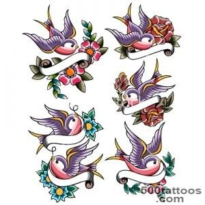 Swallow tattoo set vector by paul_june   Image #785523   VectorStock_46