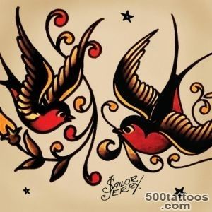 Tattoo Meanings   Swallows, Anchors, Sharks   Sailor Jerry_22