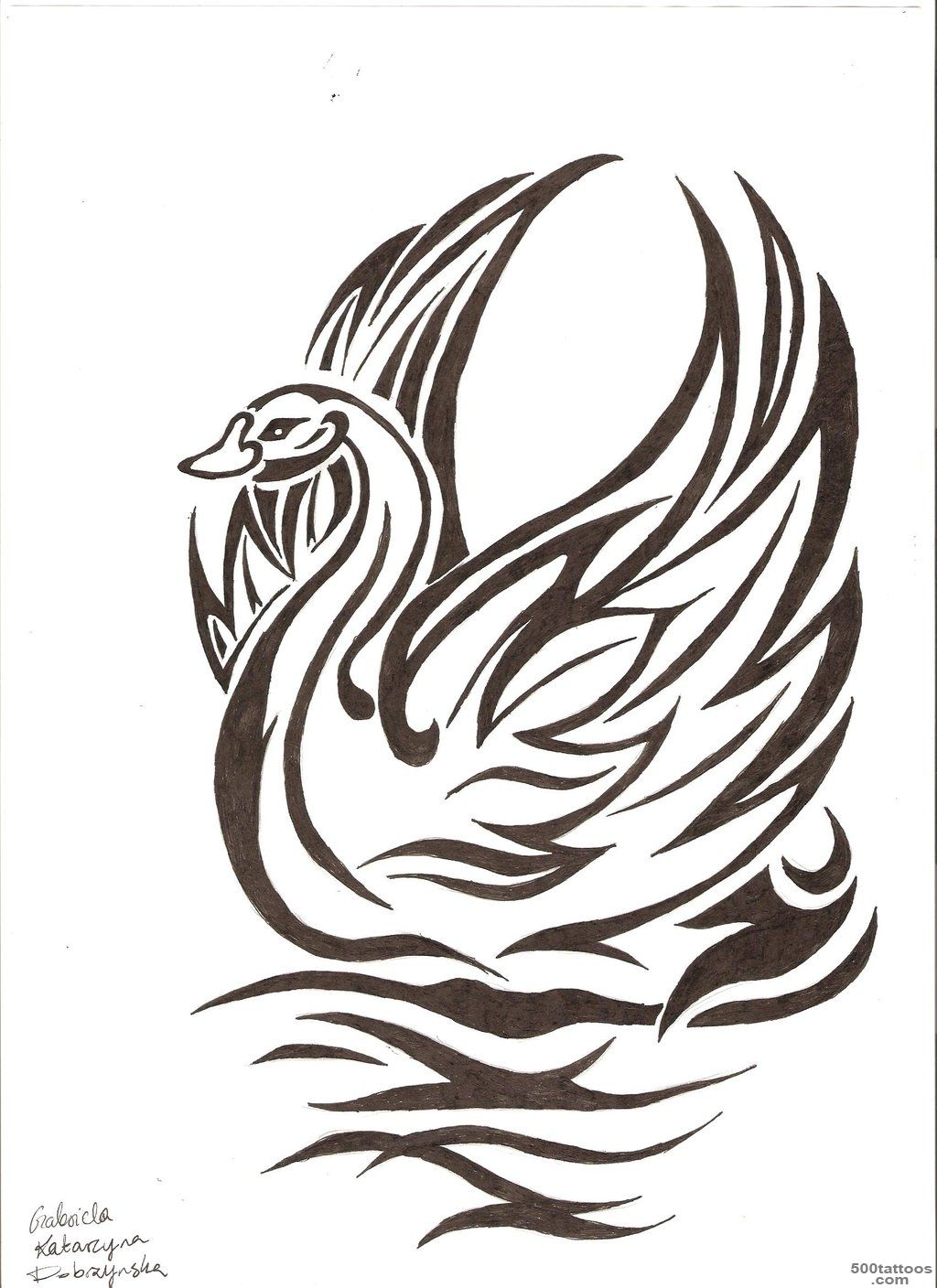 Top White Swan Tattoo Images for Pinterest Tattoos_25