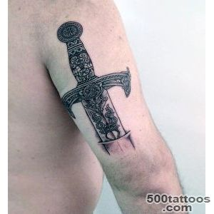 50 Sword Tattoos For Men   A Sharp Sense Of Sophistication_4