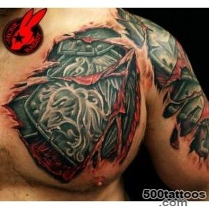 Armor And Lion Tattoos On Shoulder  Fresh 2016 Tattoos Ideas_34