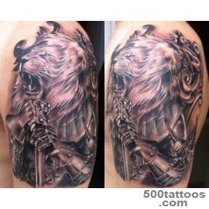 Lion with armor Tattoo motive   Ideas Tattoo Designs_44