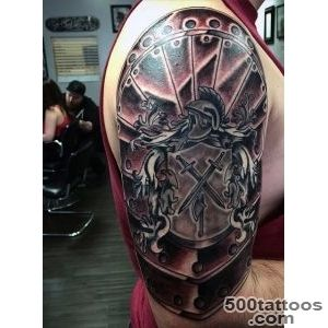 Top 90 Best Armor Tattoo Designs For Men   Walking Fortress_20