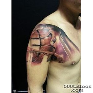 Handsome Cool Men Show Realistic Hand With Basketball Tattoo _43