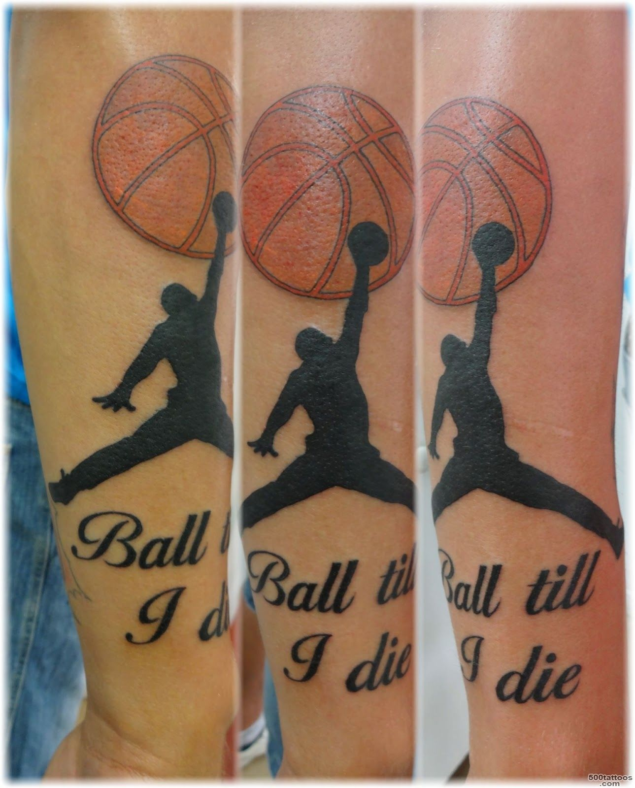 amazing basketball tattoo design with wing style on arm  Tattoo ..._42