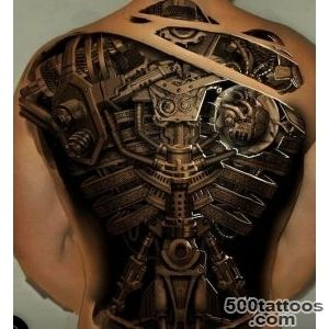 30 Best Photo Patterns Of Biomechanical Tattoos_10