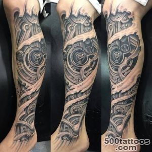 30 Best Photo Patterns Of Biomechanical Tattoos_13